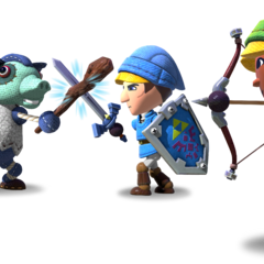 Characters from <i>The Legend of Zelda: Battle Quest</i>