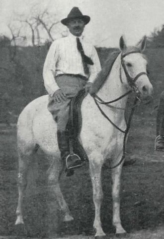 File:Brown on a horse.JPG