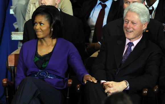 File:Lady Obama and Bill Clinton.jpg