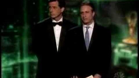 Stephen Colbert and Jon Stewart Present at the Emmys