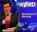 Declaration Of Warming