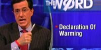 Declaration Of Warming