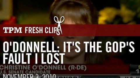 O'Donnell It's The GOP's Fault I Lost