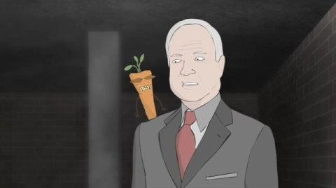 John McCain and his Vegetable Friends