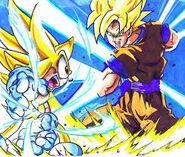 Super sonic vs. goku
