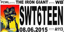 Iron Giant Sweet 16 License Plate Logo