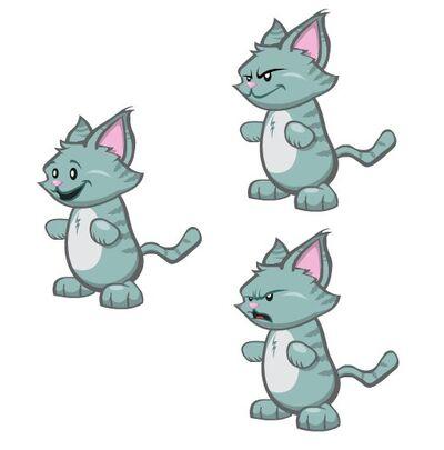 3 annoying cats