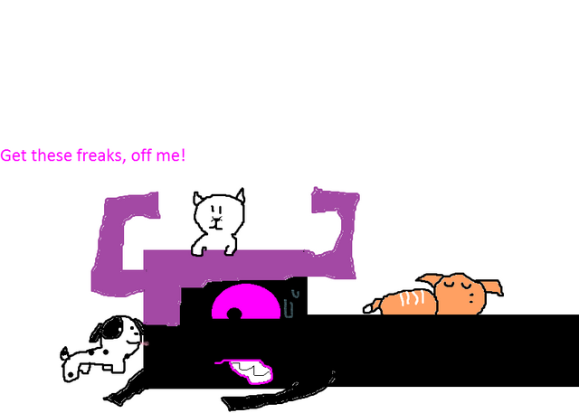 File:Wrecker being 'under attack' by kittens and puppies.png