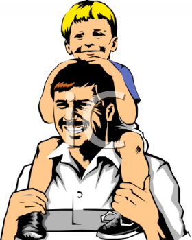 File:0511-0809-2919-5137 Boy Riding on His Dads Shoulders clipart image.png
