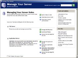 Windows Server 2003 Manage Your Server
