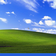 The default desktop for Windows XP Professional, featuring the <a href=