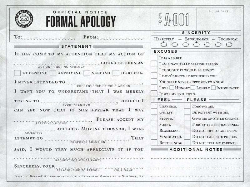Apology slip Wings of Fire Wiki – How to Make an Apology Letter