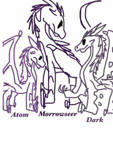 Atom, Morrowseer, and Dark