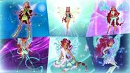 Winx Club - Aisha All Full Transformations up to Tynix! HD!
