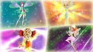 Winx Club - All Side Fairies Characters Transformations! HD!