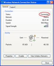 Windows Status Connected