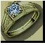 Tw3 green gold diamond ring