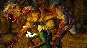 The Witcher 3 Howler the Chort Boss Fight (Hard Mode)