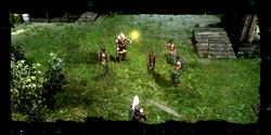 Geralt se encuentra la escenita en la aldea de pescadores