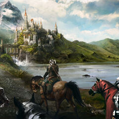 Concept art of road to Beauclair