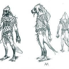 early sketch Vodyan warrior
