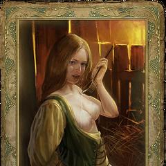 Peasant girl's romance card.