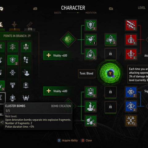 Redesigned Character panel