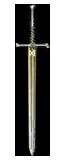 Yellow meteorite sword