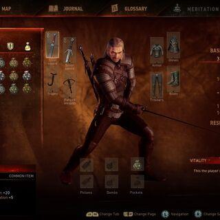 E3 Demo screen of inventory
