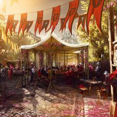Concept art of wine festival
