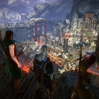 Together with elven archers