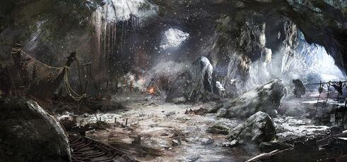 The witcher 3 wild hunt trolls cave by scratcherpen