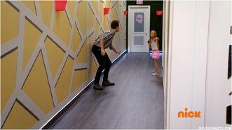 Cameron running in halls