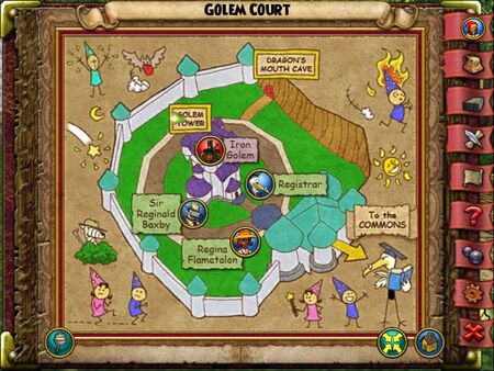 The Golem Court Smith Map