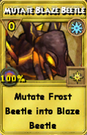 Mutate Blaze Beetle Treasure Card