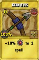 Keen Eyes Treasure Card