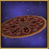 Ornate Oval Rug