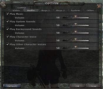 Options-audio