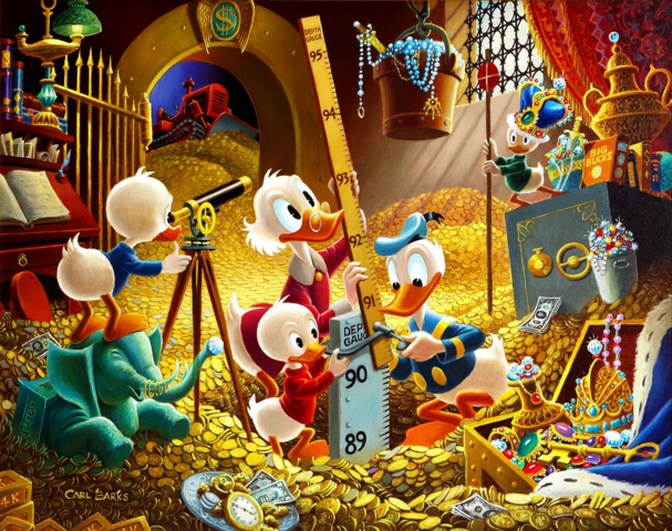 File:Scrooge-McDuck-Carl-Barks-for-Disney-Donald-Duck-with-Huey-Duey-and-louie.png