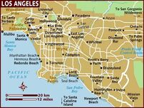 Map oflosangeles