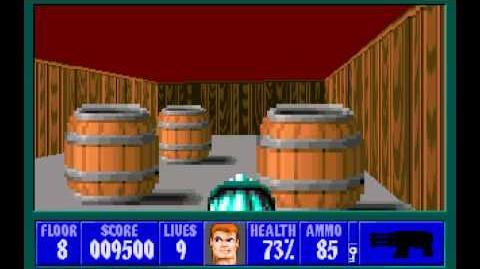 Wolfenstein 3D (id Software) (1992) Episode 2 - Operation Eisenfaust - Floor 8 HD