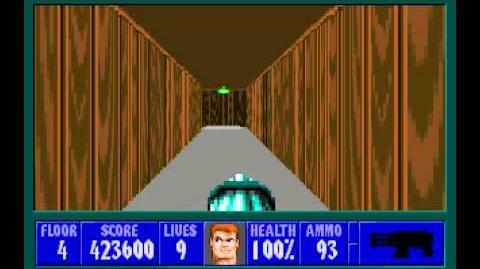 Wolfenstein 3D (id Software) (1992) Episode 4 - A Dark Secret - Floor 4 HD