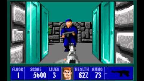 Wolfenstein 3D (id Software) (1992) Episode 5 - Trail of the Madman - Floor 1 HD