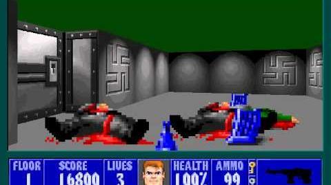 Spear Of Destiny 3 - Ultimate Challange - Floor 1 (Upper Bunker Area 1)