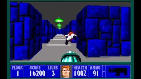 Wolfenstein 3D (id Software) (1992) Episode 6 - Confrontation - Floor 1 HD