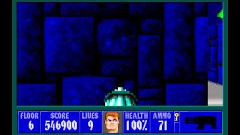 Wolfenstein 3D (id Software) (1992) Episode 4 - A Dark Secret - Floor 6 HD