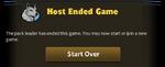 MP 2.7 host ended