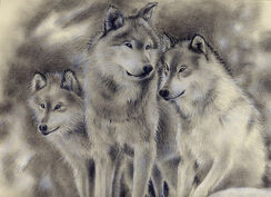 Wolf Family.SOLD