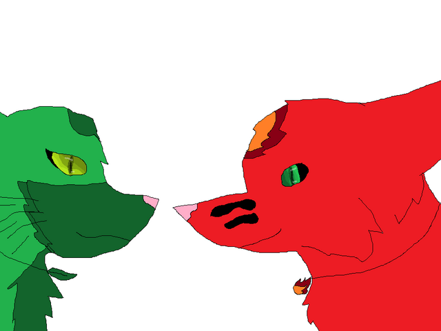 File:Firelightning the wolf and Leafstorm the fox.png