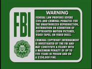Disney Green FBI Warning (1997)